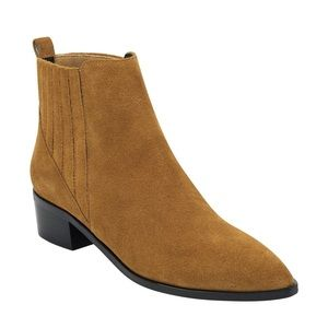 Marc Fisher Yolli Booties Chestnut Suede